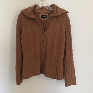 Sonoma Brown Cable Knit Chenille Pullover Sweater
